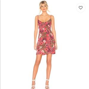 MINKPINK tropical islands tie front floral dress